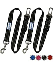 Zenify Heavy Duty Dog Seat Belt (2 Pack) - Durable Car Seat Leash for Dogs Puppies - Pet Harness Vehicle Safety