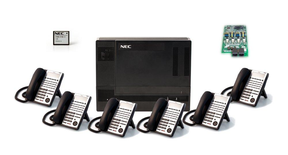 NEC NEC-1100009 6-Handset 4-Line Landline Telephone
