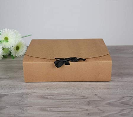 CTOBB - Caja de Regalo de Papel Negro, tamaño 31 x 25,5 x 8 cm, 30 Unidades, Caja de cartón Kraft Grande, Cajas de cartón Blanco para Camisetas, como Indica la Imagen, 310x255x80mm: Amazon.es: Hogar