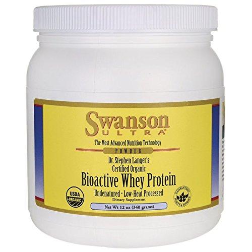 Swanson Certified Organic Undenatured Bioactive Whey Protein 12 oz (340 g) Pwdr