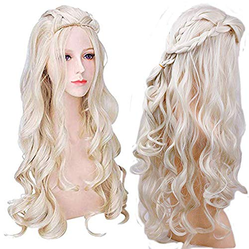 Blanna Wigs for Halloween Cosplay Party Wigs 26 Inch Long Curly Wigs for Women (No New Game Of Thrones This Week)
