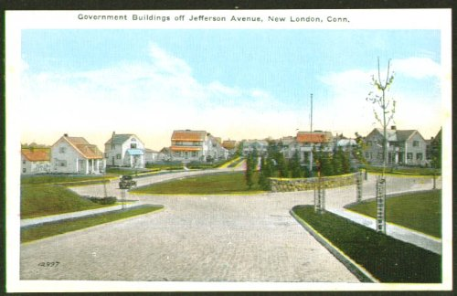 Government Building Jefferson Av New London CT postcard 1910s from The Jumping Frog