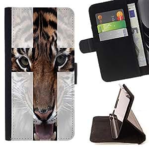 Skull Market - FOR Samsung Galaxy Note 3 III - In your tongue - Caja de la carpeta del tir¨®n del cuero de la PU [con ranuras para tarjetas y cierre de solapa magn¨¦tica] P¨¢rese cubierta de la caja