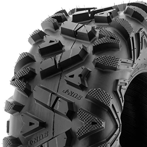 SunF A033 Power.I 25x11-10 ATV UTV Tire All-Terrain Off-Road, 6 Ply Tubeless (Best Snow At Tire)