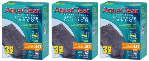 Aquaclear Activated Carbon Insert, 30-Gallon Aquariums, 3-Pack (3-Pack)
