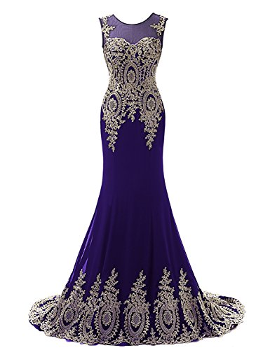 Sarahbridal Girls Long Gown Prom Dresses Elegant Party Ball Mermaid Dress...