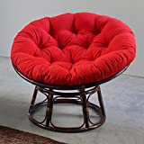 International Caravan 3312-TW-GP-IC Furniture Piece 42-inch Rattan Papasan Chair with Solid Twill Cushion