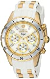 Invicta Women's 'Angel' Quartz Stainless Steel and Silicone Casual Watch, Color:White (Model: 24901)