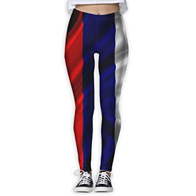 a567444bf6931 Russia Satin Flag Women Gym Yoga Pants Sport Running Pants at Amazon  Women's Clothing store: