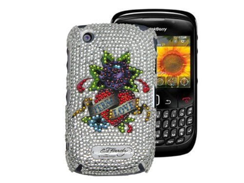 Ed Hardy Crystal Faceplate for BlackBerry Curve 8520 - Eternal (Ed Hardy Curve)