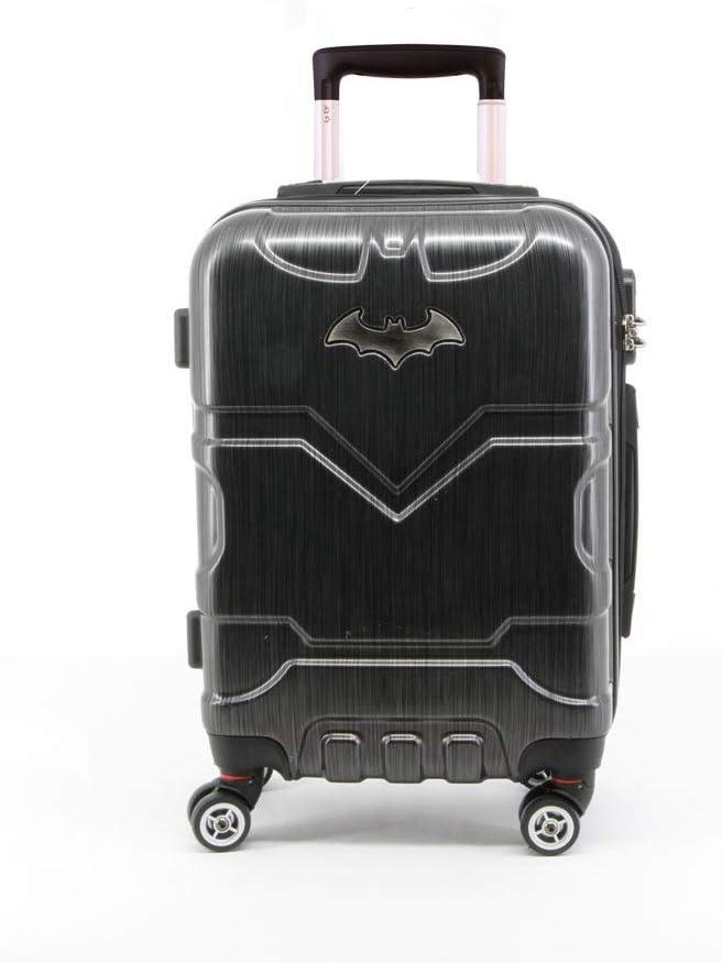 35.5 liters Bagage Cabine Noir Batman Batsignal-ABS Trolley-Koffer Klein