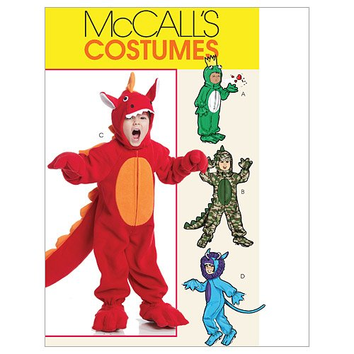 McCall's Patterns M6185 Toddlers'/Children's Costumes, Size CB (1-2-3)