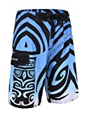 Unitop Men's Swim Trunks Quick Dry with Lining Blue