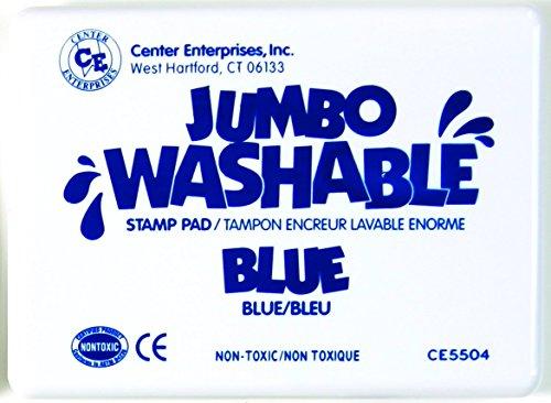 Center Enterprise CE5504 Jumbo Washable Stamp Pad, Blue ()