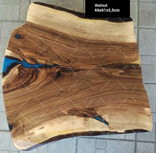 Oliveo Mesa de café increíble epoxi y Madera Holz Madera Natural ...