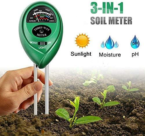 Digital 3 In 1 Soil Moisture Meter Sunlight PH Tester Detector Garden Lawn Plant