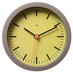 Bai Designer Wall Clock, Railroad Chartreuse