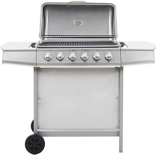 vidaXL Barbecue Grille au Gaz 6 Zones de Cuisson INOX
