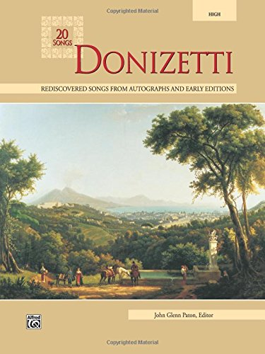 Donizetti: High Voice (20 Songs) by Alfred Music