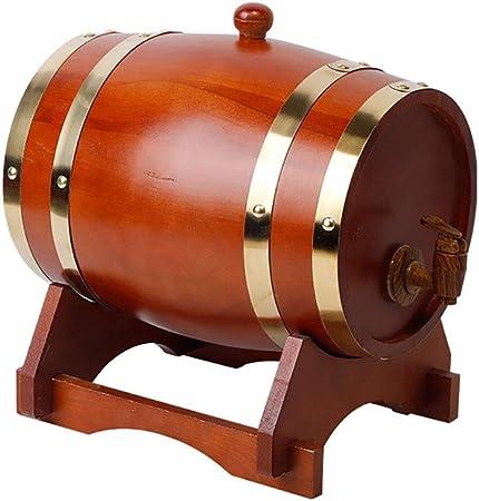 Opinión sobre Barril de roble Vintage de madera de roble del barril de vino, almacenamiento Compartimiento de la cerveza Barriles, for Vino y el Brandy Cerveza Tequila Whisky Ron Vino, cerveza, sidra, whisky.