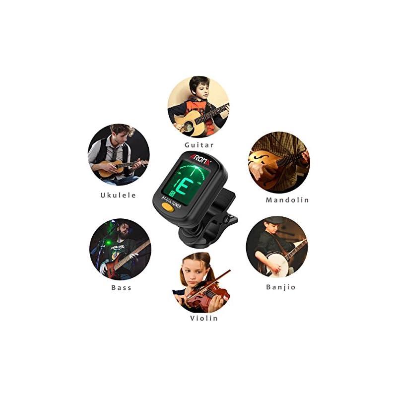 Digital clip on guitar tuner for musical