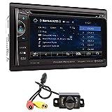 Power Acoustik PH-620SXMB 6.2' DVD Monitor Bluetooth Receiver w/SiriusXM+Camera