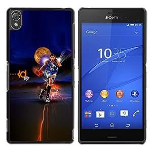Oklahoma 35 Baloncesto - Metal de aluminio y de plástico duro Caja del teléfono - Negro - Sony Xperia Z3