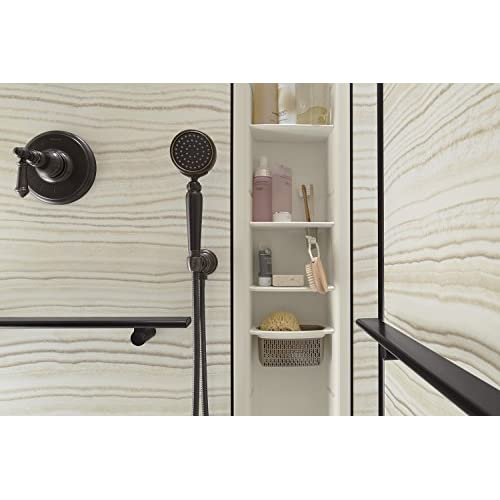 "low-cost KOHLER K-97630-NY Choreograph 9"" Shower Locker Storage, Dune"