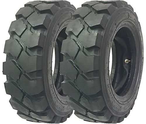 Set 2 Zeemax Heavy Duty 7.00-12 /12TT Forklift Tires w/Tube Flap Rim Guard by ZEEMAX