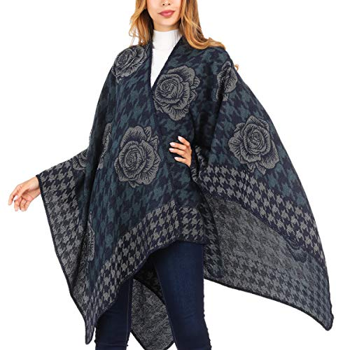 - DsFiyeng Cashmere Women Shawl Wrap Tassel Thick Soft Open Front Poncho Cape for Winter(21+Colors Available)