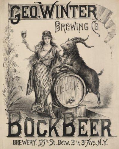 (Photo Print 24x30: Geo. Winter Brewing Co. Bock Beer, New York City, 1900)