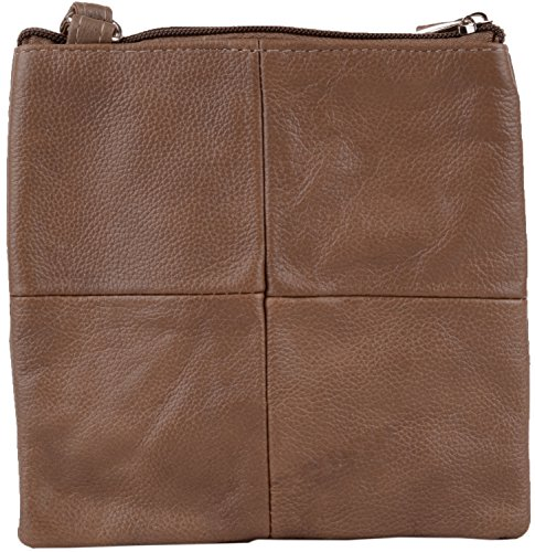 Leather Body Womens with Small Bag Ladies Shoulder Features Multiple Cross Fawn wgfBFWqE