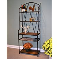 Bakers Rack With Slate Top (4dcon-601512) From 4d Concepts