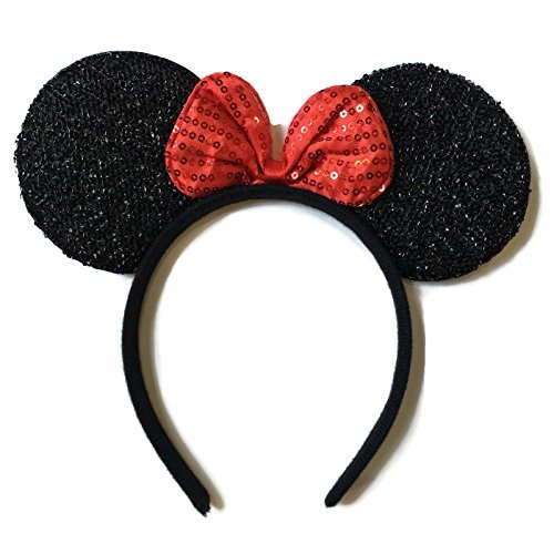 Rush Dance Red Minnie Mouse Ears Birthday Party Favor Bow accessories Headband...