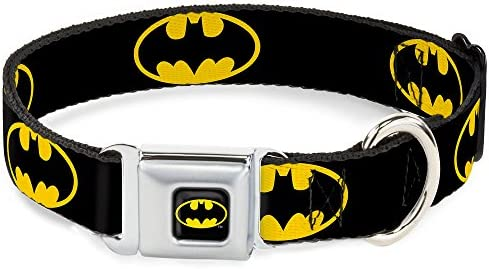 1.5 Wide Buckle-Down Pet Leash 4 Feet Long Vintage Batman Logo /& Bat Signal-3 Yellow