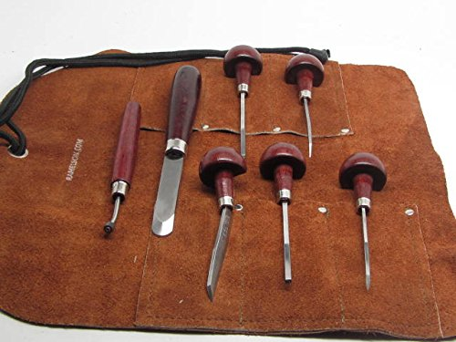 7pc Mezzotint Rocker Etching Intaglio Printmaking Roulette Elliptic Kit USA by UJ Ramelson Co