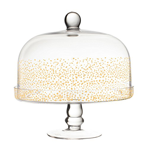 Fitz And Floyd Cake Stand - Fitz and Floyd 212716-GB Luster Pedestal Cake Plate, 11.4