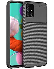 HEYUS for Samsung Galaxy A51 Case, Protective Carbon Fiber Case Cover Compatible with Samsung Galaxy A51, Lightweight Ultra Thin Slim