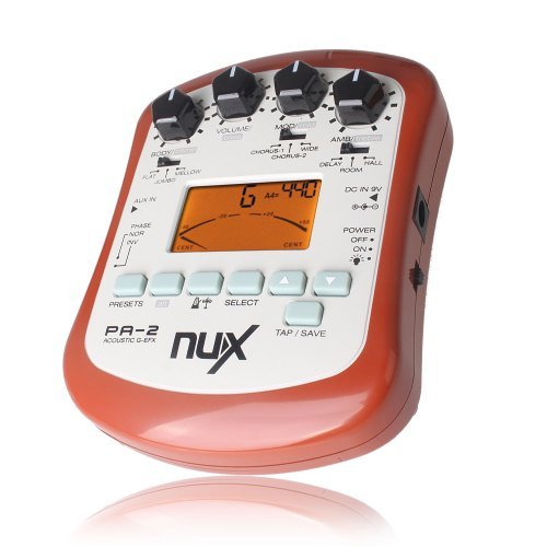 Portable Guitar Effects Processor (NUX AUX IN PA-2 Portable Acoustic Guitar Effects Processor Flat Tuning Function)