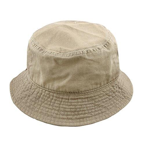Falari Men Women Unisex Cotton Bucket Hat Large/X-Large Khaki