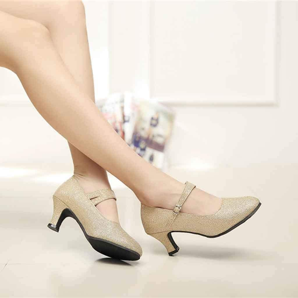 Toasye Frauen Casual High Heel Pailletten Tanzschuhe Social Dance Schuh