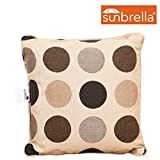 Lazy Daze Hammocks Sunbrella Fabric Throw Pillow for Outdoor Indoor, All Weather and Fade Resistant, 13.4 Inch Long x 13.4 Inch Wide, Mojito Coffee Bean