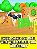 Learn Colors For Kids With Wild Animals and Hamburger