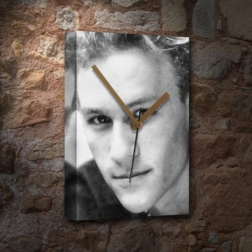 - HEATH LEDGER - Canvas Clock (A5 - Signed by the Artist) #js001