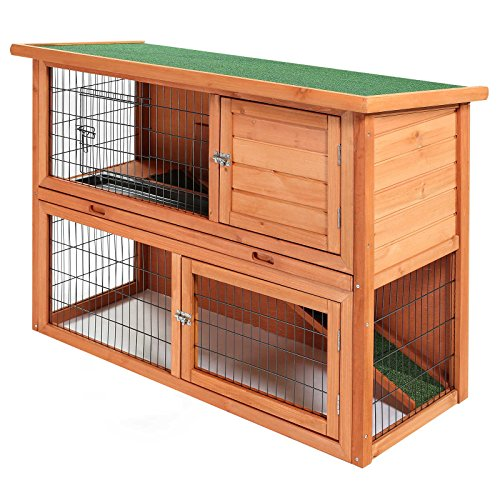 SmithBuilt-48-Rabbit-Hutch-Two-Story-Wood-Bunny-Cage
