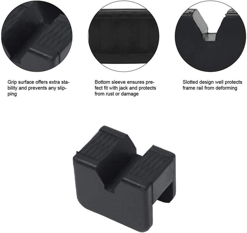 hudiemm0B Jack Pad 2Pcs Universal Jack Rubber Pad Adapter Slotted Frame Rail Pinch Weld Protector