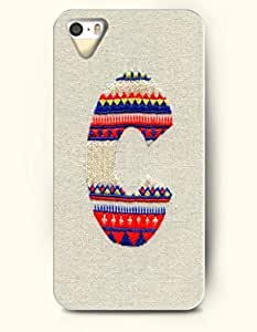 OOFIT Aztec Indian Chevron Zigzag Native American Pattern Hard Case for Apple iPhone 5 5S ( iPhone 5C Excluded ) ( Alphabet C Of Aztec Pattern )