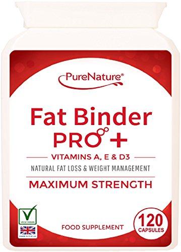 Fat Binder Pro High Strength Vegetarian Diet Slimming Pills + Vitamins A, D...