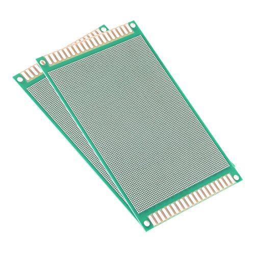 uxcell 9x15cm Double Sided Universal Printed Circuit Board for DIY Soldering 2pcs
