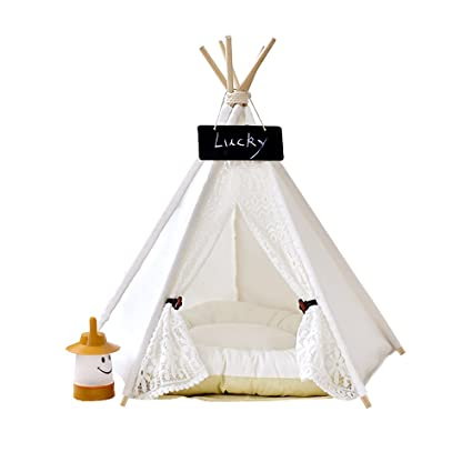 Pet Teepee Dog u0026 Cat Bed - Dog Tents u0026 Pet Houses With Cushion u0026 Blackboard  sc 1 st  Amazon.com & Amazon.com : Pet Teepee Dog u0026 Cat Bed - Dog Tents u0026 Pet Houses ...